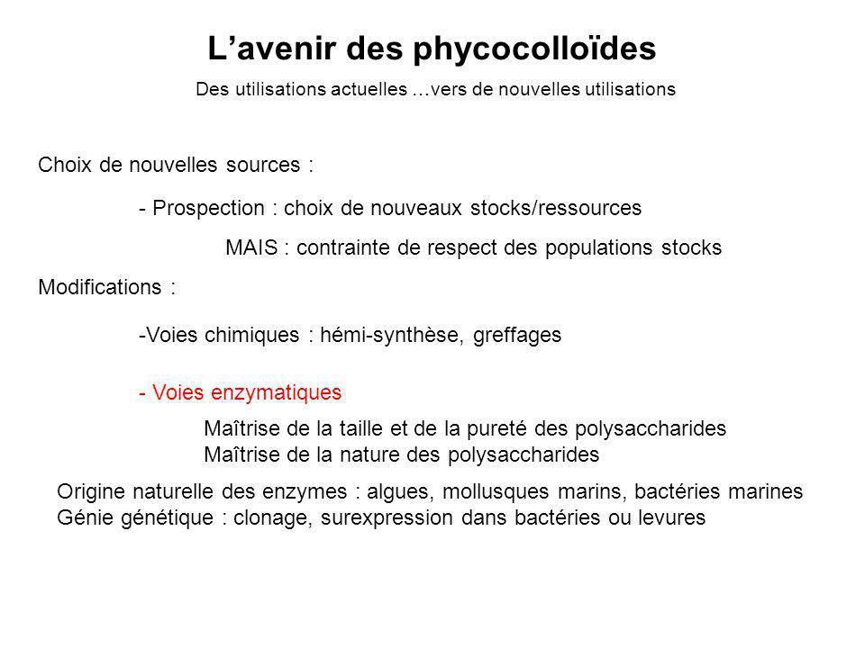 L'avenir des phycocolloïdes