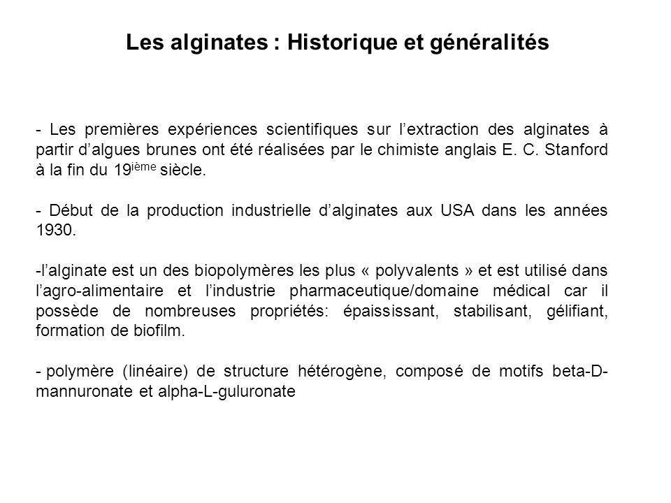 Les alginates : Historique et généralités