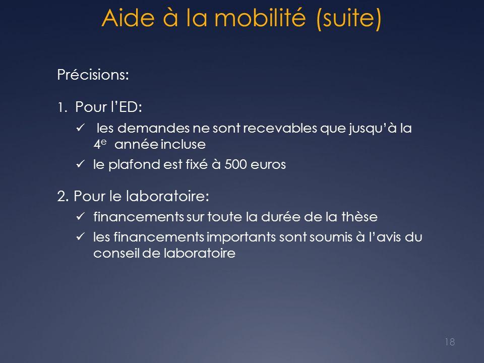 Aide à la mobilité (suite)