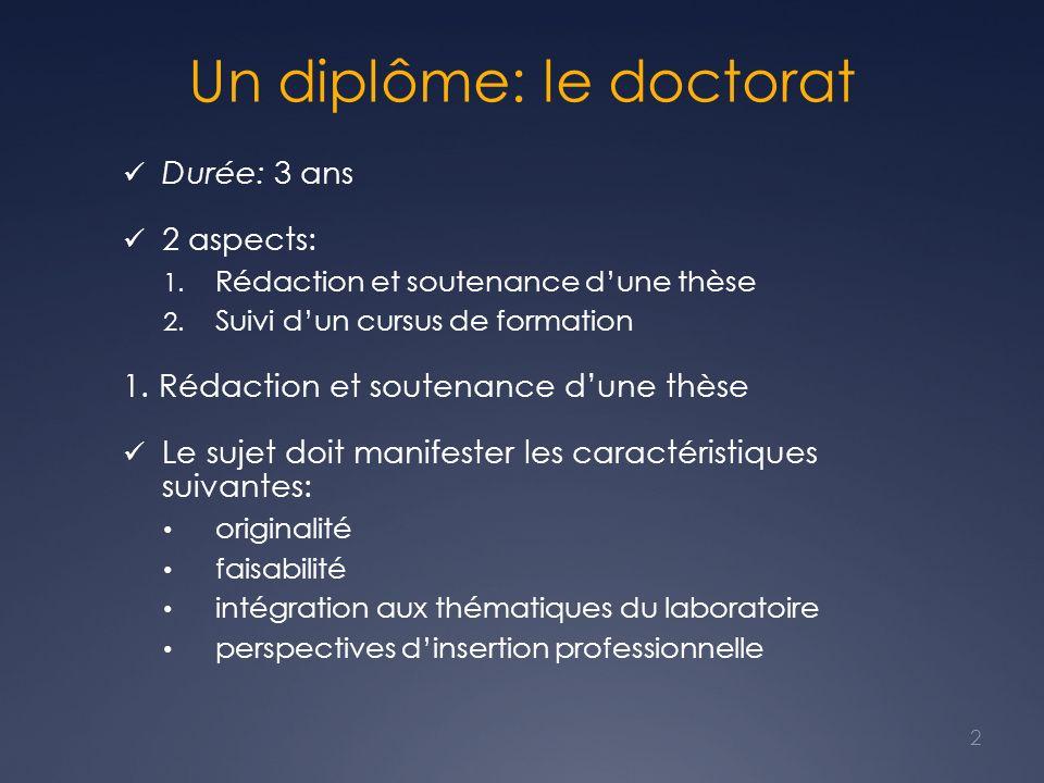 Un diplôme: le doctorat