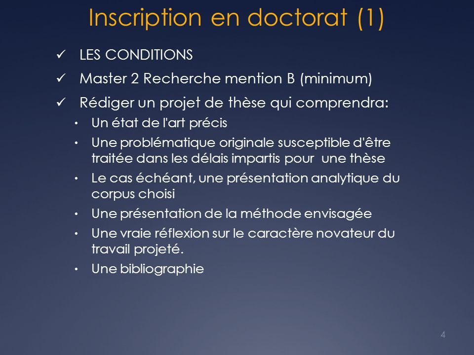 Inscription en doctorat (1)