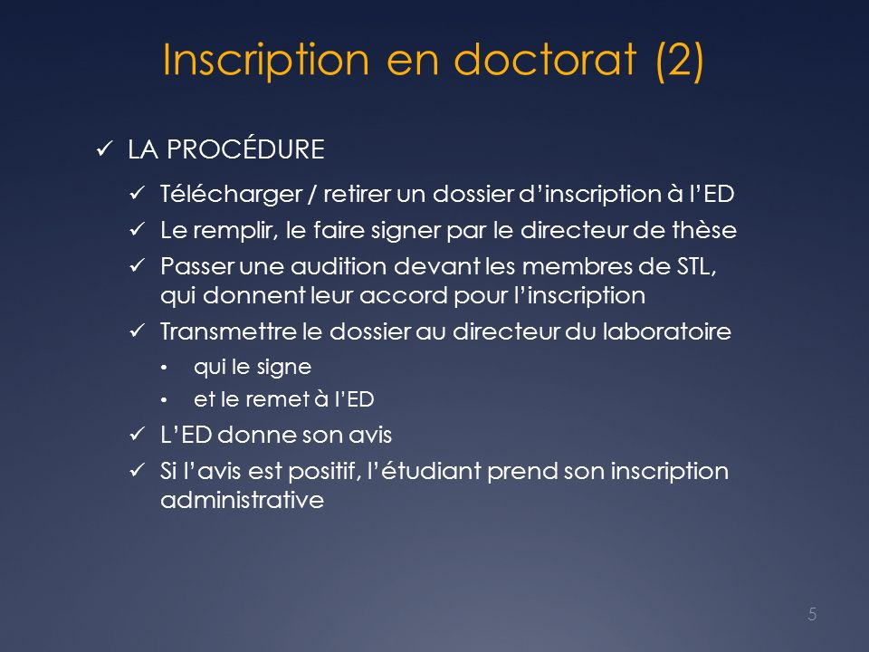 Inscription en doctorat (2)