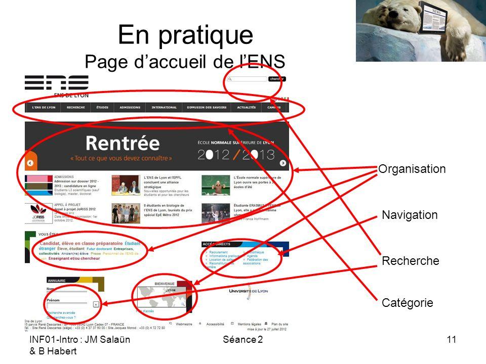 En pratique Page d'accueil de l'ENS
