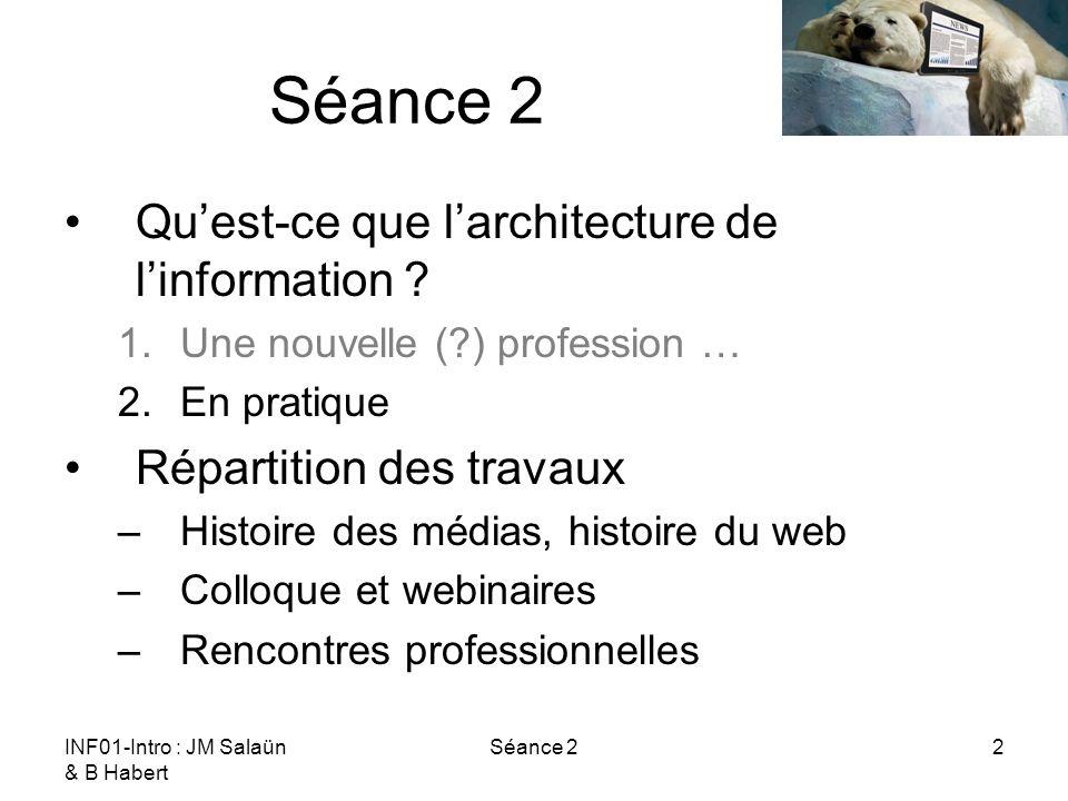 Séance 2 Qu'est-ce que l'architecture de l'information