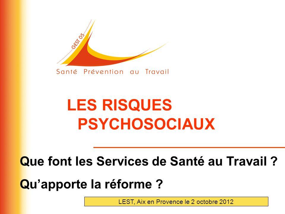 LEST, Aix en Provence le 2 octobre 2012