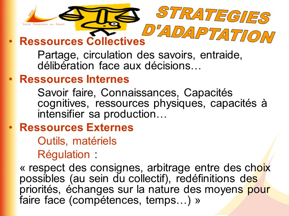 STRATEGIES D ADAPTATION Ressources Collectives