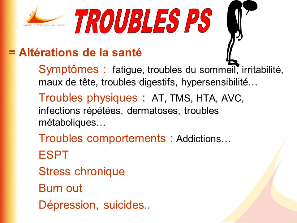TROUBLES PS = Altérations de la santé