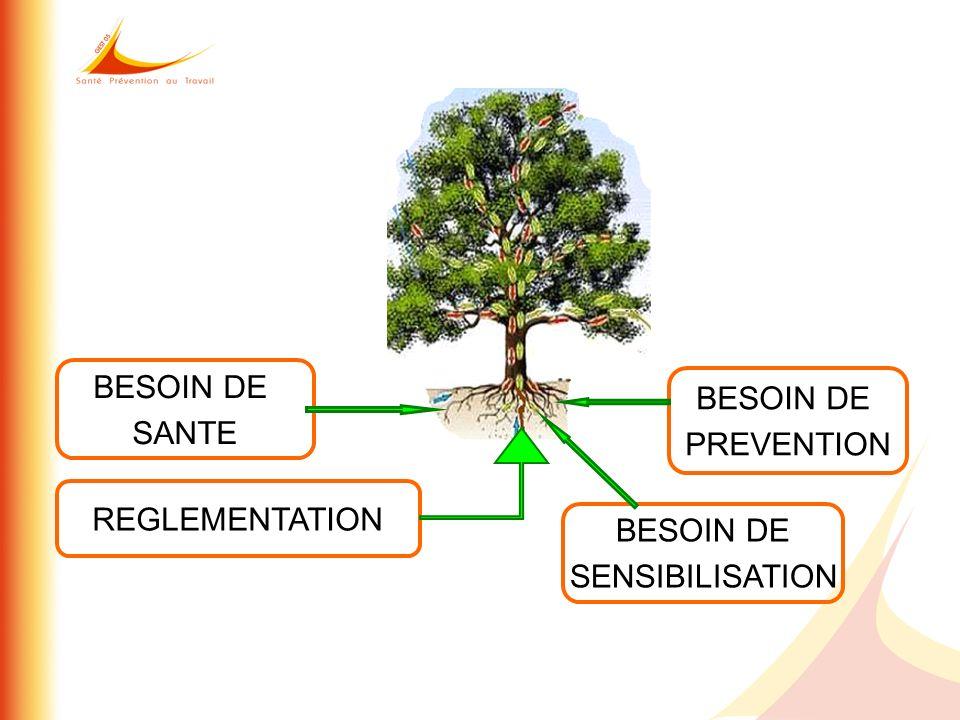 BESOIN DE SANTE BESOIN DE PREVENTION REGLEMENTATION BESOIN DE SENSIBILISATION