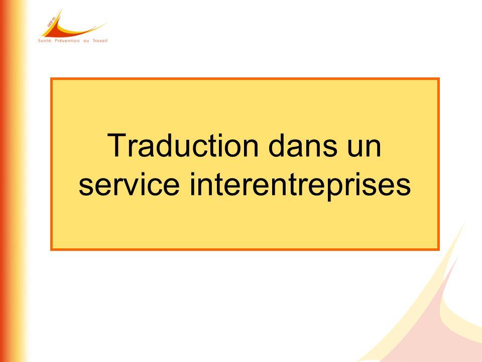 Traduction dans un service interentreprises