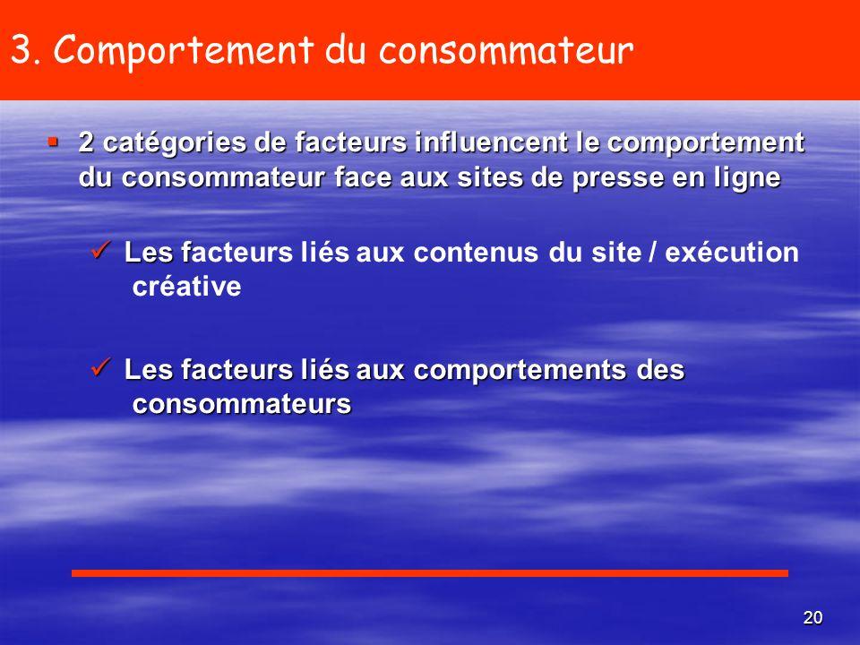 3. Comportement du consommateur