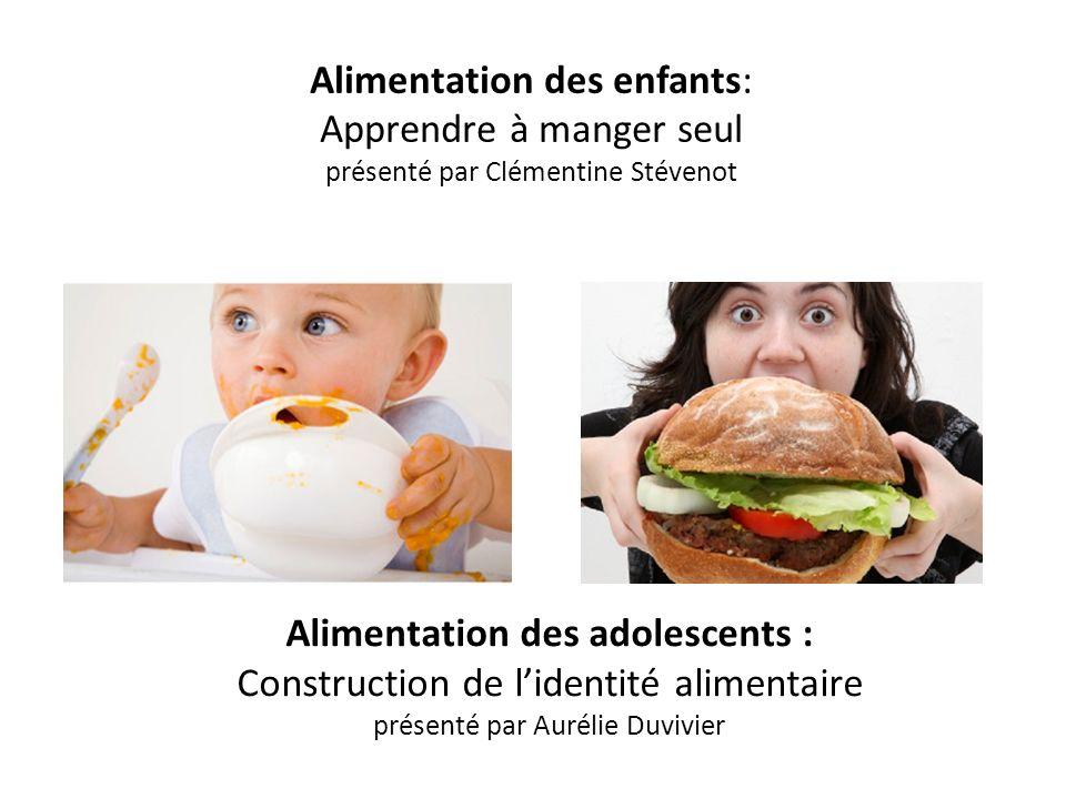 Alimentation des adolescents : Construction de l'identité alimentaire