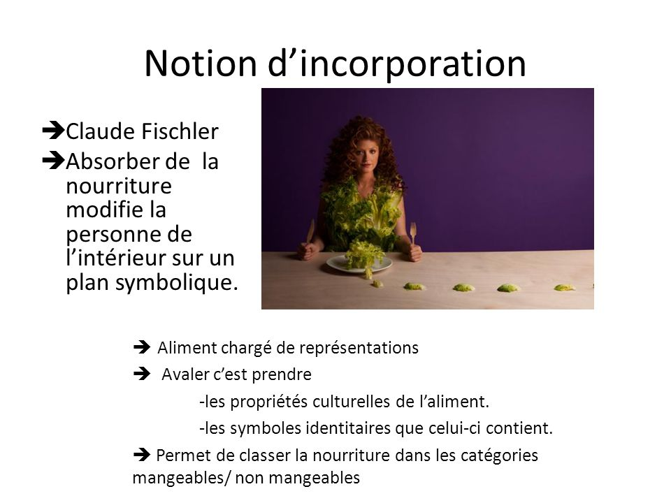 Notion d'incorporation