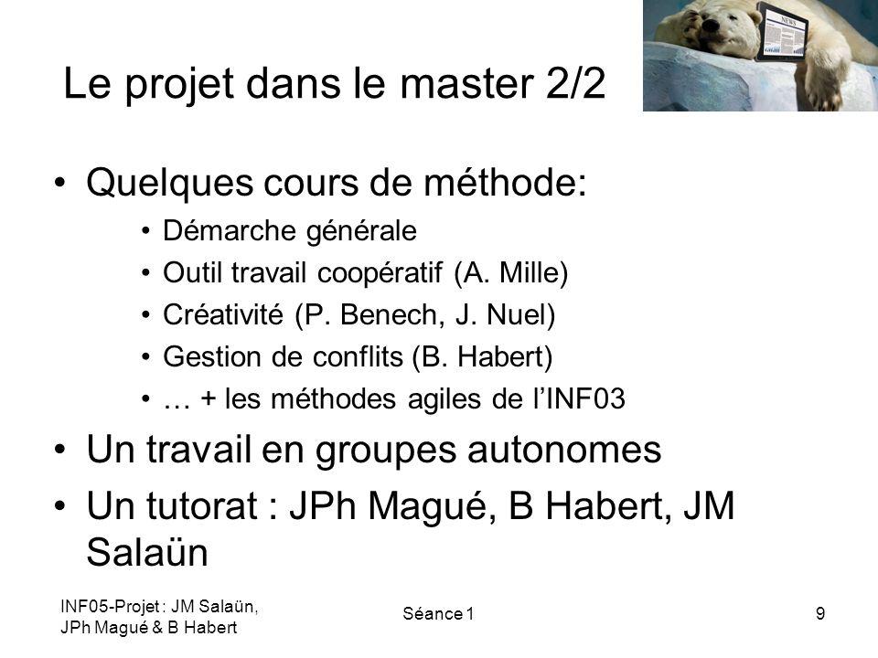 Le projet dans le master 2/2