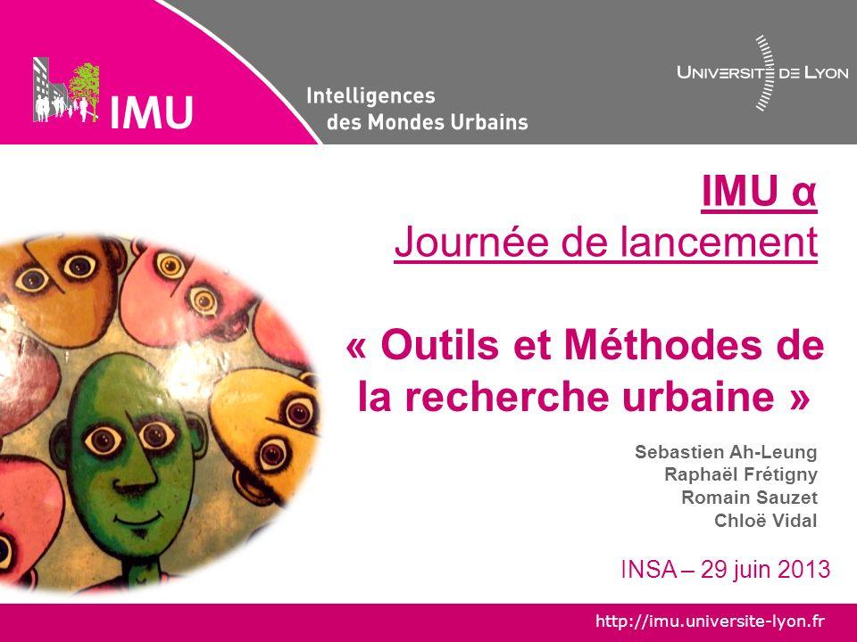 « Outils et Méthodes de la recherche urbaine »
