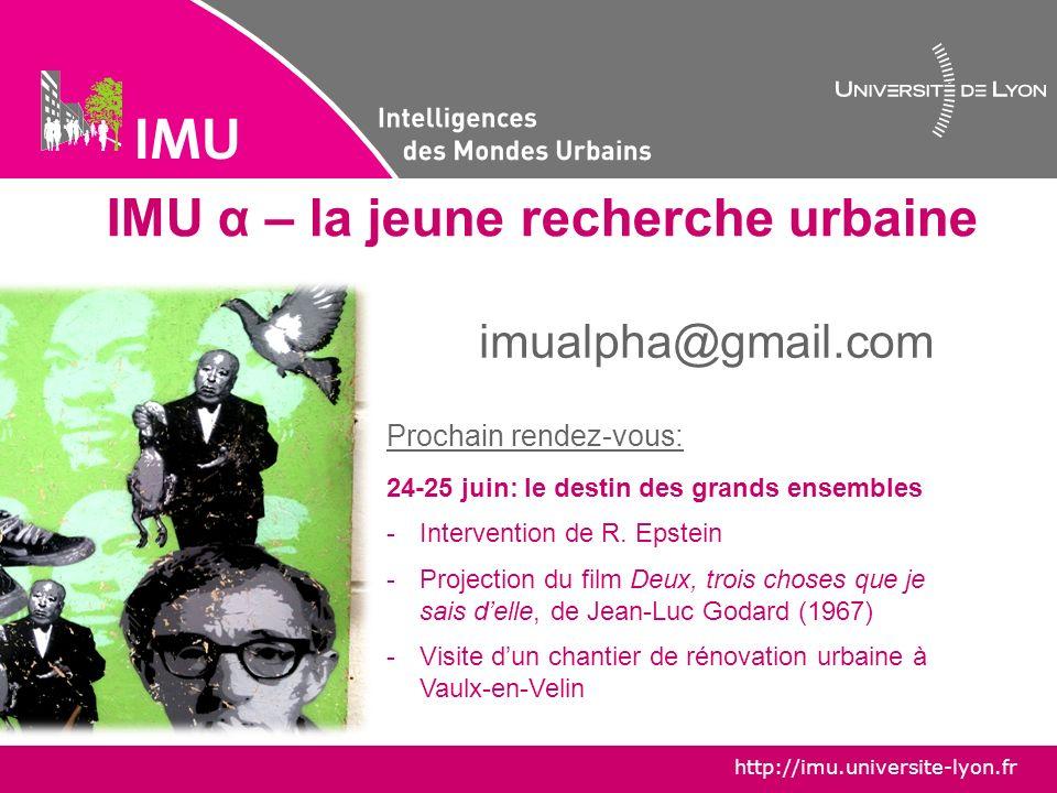 IMU α – la jeune recherche urbaine