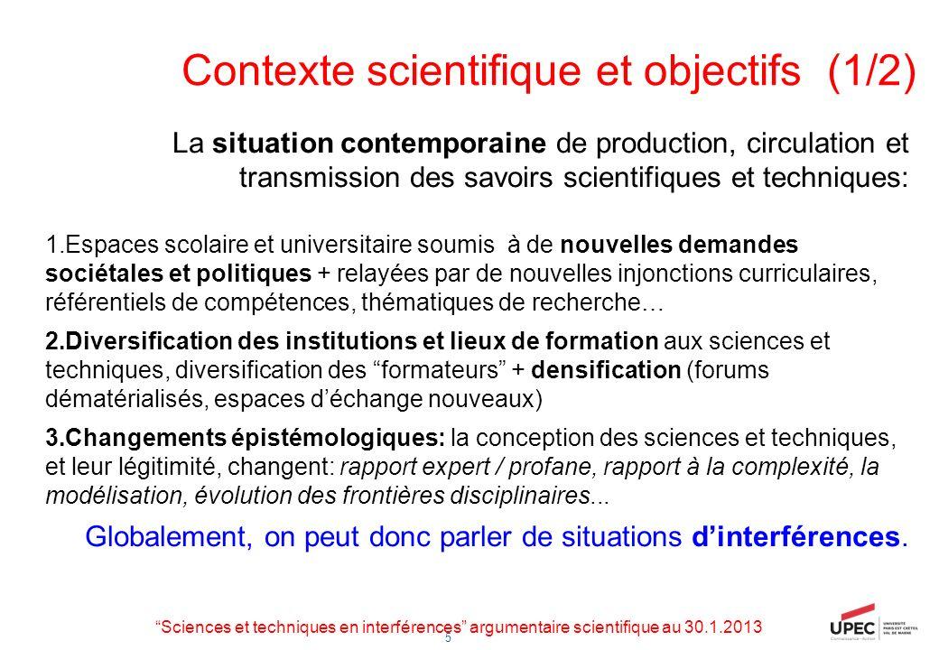 Contexte scientifique et objectifs (1/2)