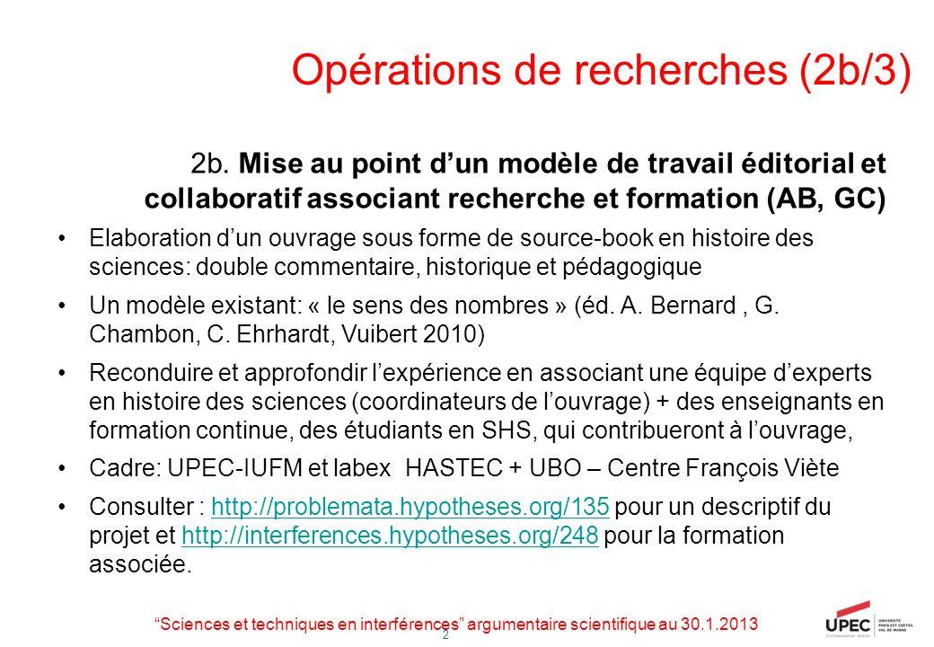 Opérations de recherches (2b/3)
