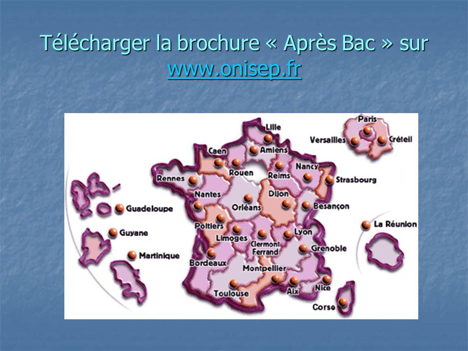 Télécharger la brochure « Après Bac » sur www.onisep.fr