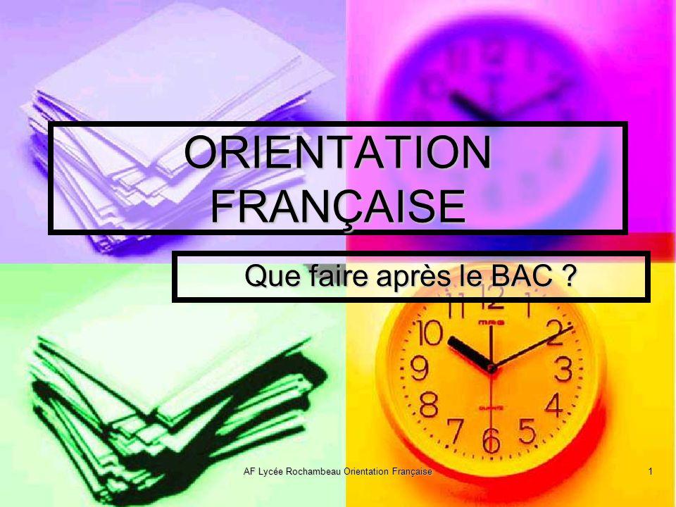 ORIENTATION FRANÇAISE