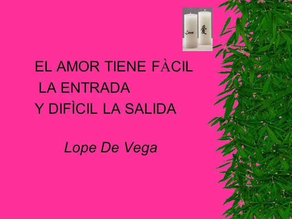 EL AMOR TIENE FÀCIL LA ENTRADA Y DIFÌCIL LA SALIDA Lope De Vega
