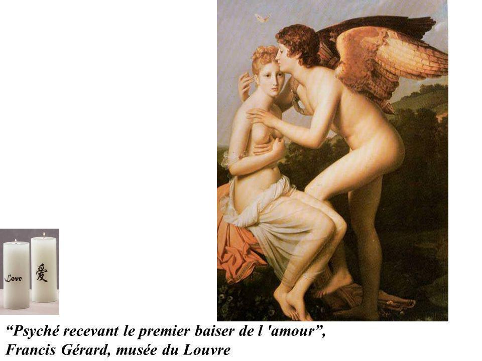 Psyché recevant le premier baiser de l amour ,