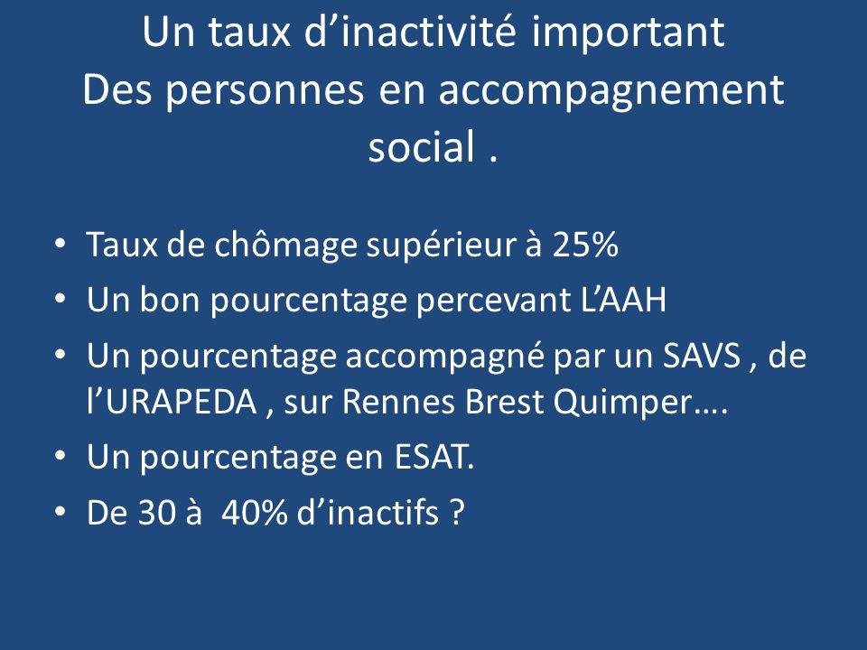 Un taux d'inactivité important Des personnes en accompagnement social .