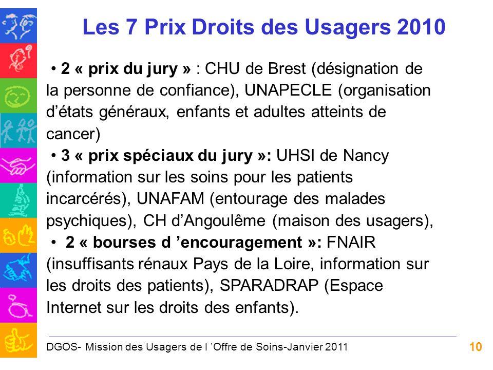 Les 7 Prix Droits des Usagers 2010