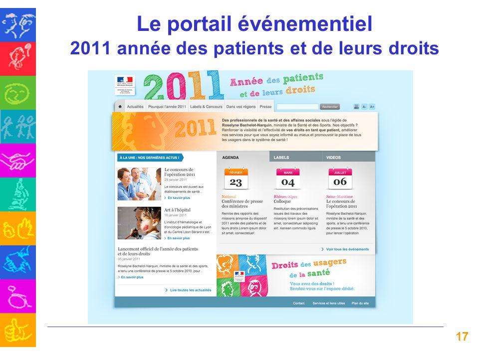 Le portail événementiel 2011 année des patients et de leurs droits