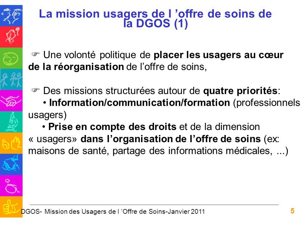 La mission usagers de l 'offre de soins de la DGOS (1)
