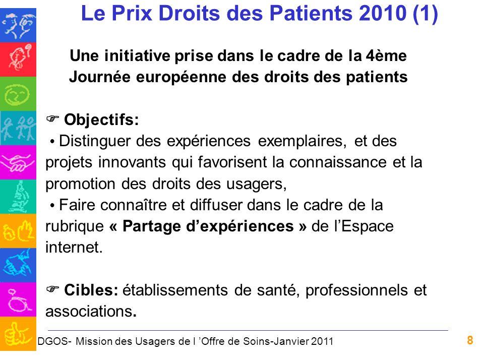 Le Prix Droits des Patients 2010 (1)