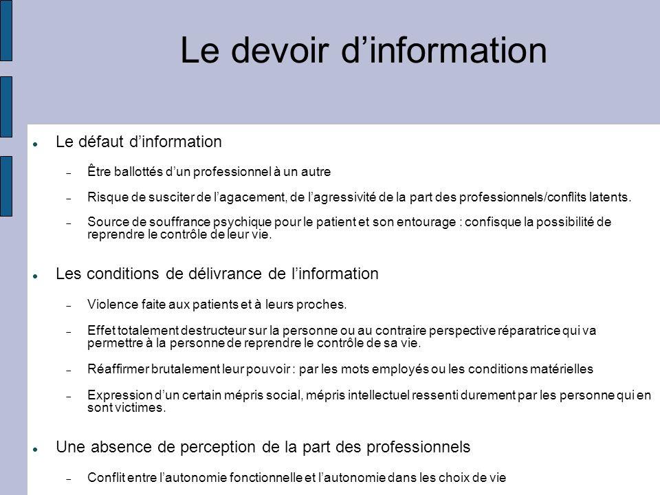 Le devoir d'information