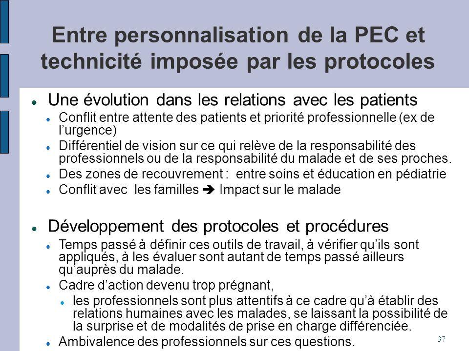Entre personnalisation de la PEC et technicité imposée par les protocoles