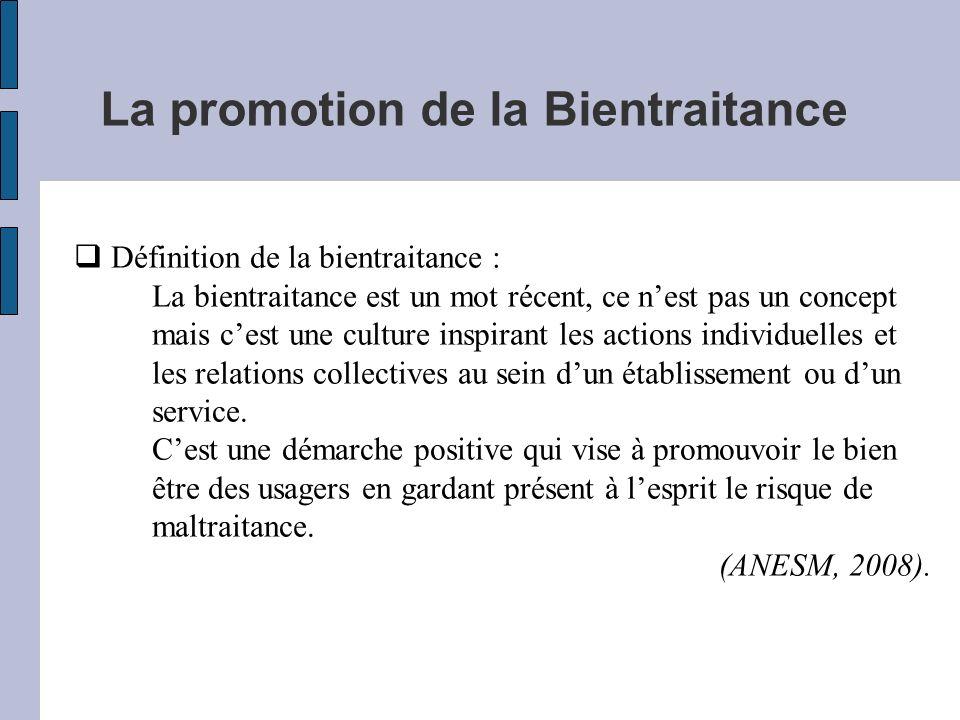 La promotion de la Bientraitance