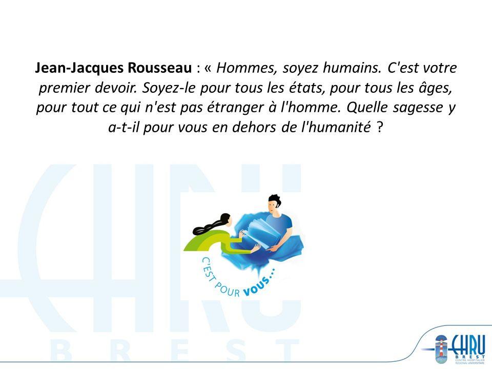 Jean-Jacques Rousseau : « Hommes, soyez humains