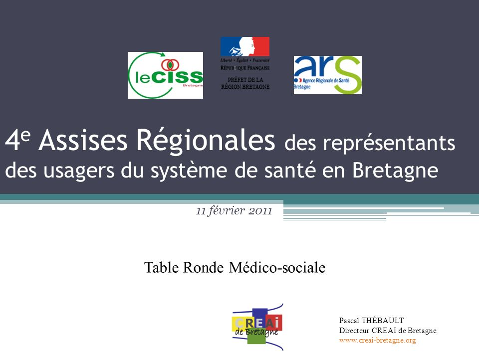 4e Assises Régionales des représentants des usagers du système de santé en Bretagne
