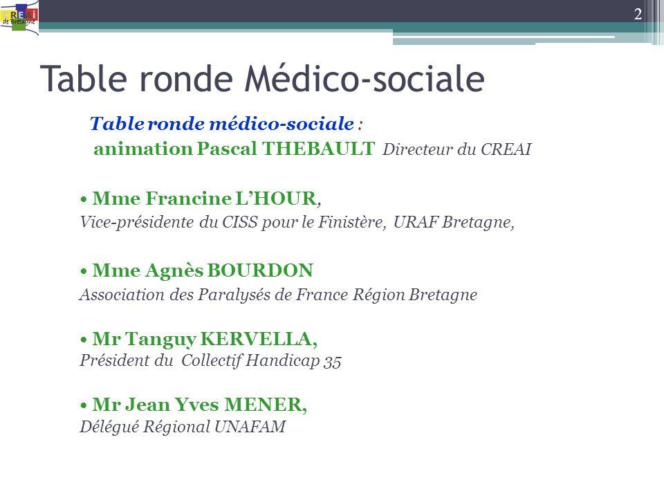 Table ronde Médico-sociale