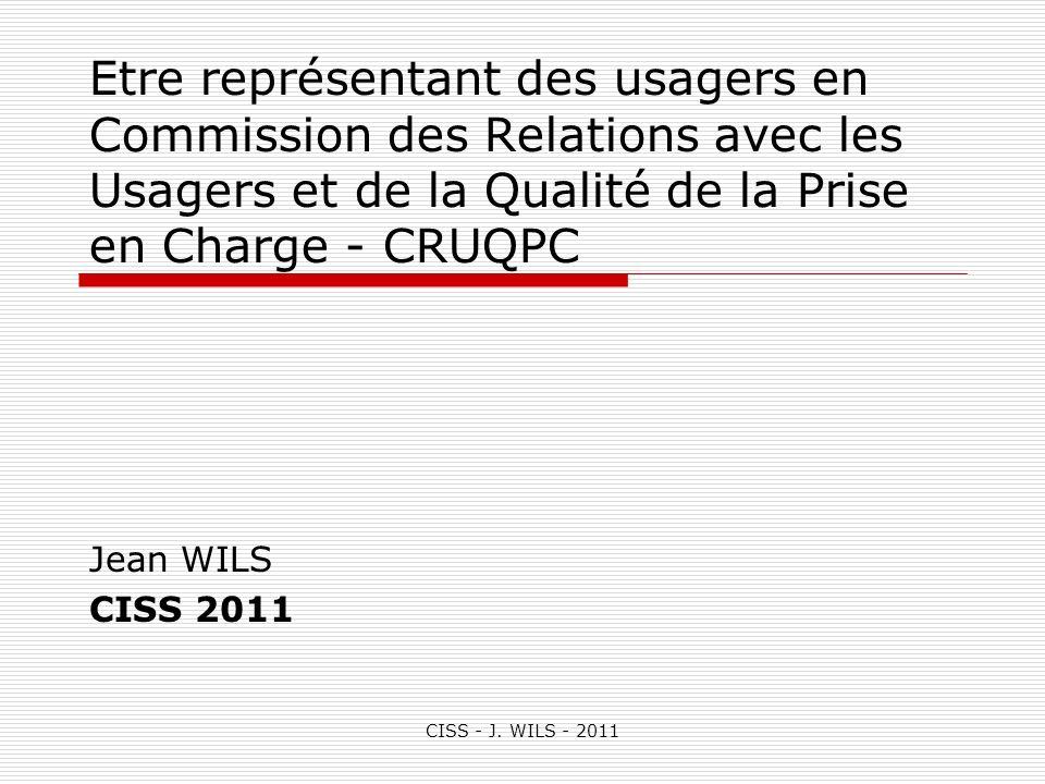 Etre représentant des usagers en Commission des Relations avec les Usagers et de la Qualité de la Prise en Charge - CRUQPC