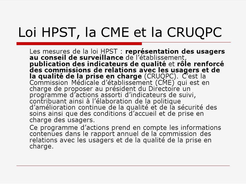 Loi HPST, la CME et la CRUQPC