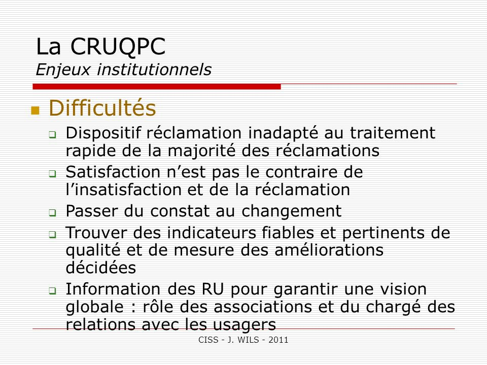 La CRUQPC Enjeux institutionnels
