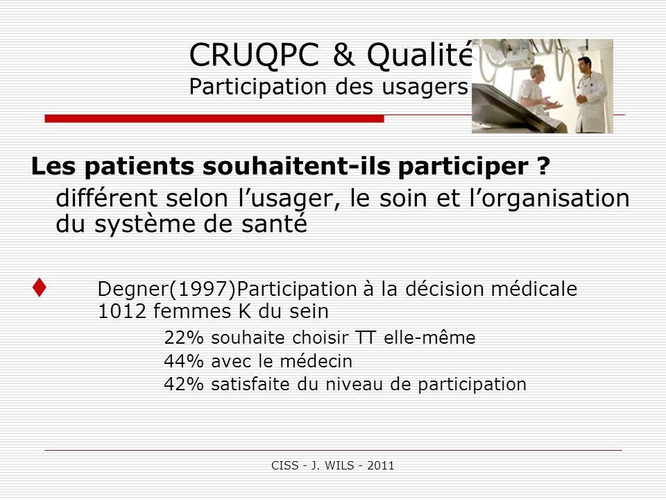 CRUQPC & Qualité Participation des usagers