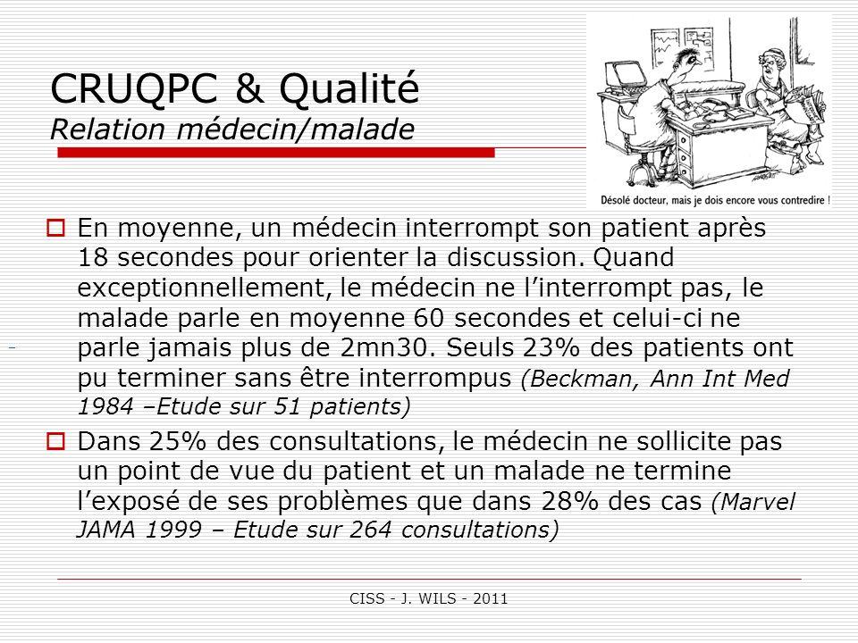 CRUQPC & Qualité Relation médecin/malade