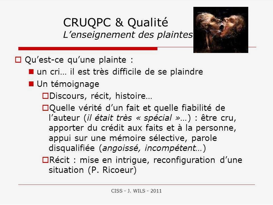 CRUQPC & Qualité L'enseignement des plaintes (1)