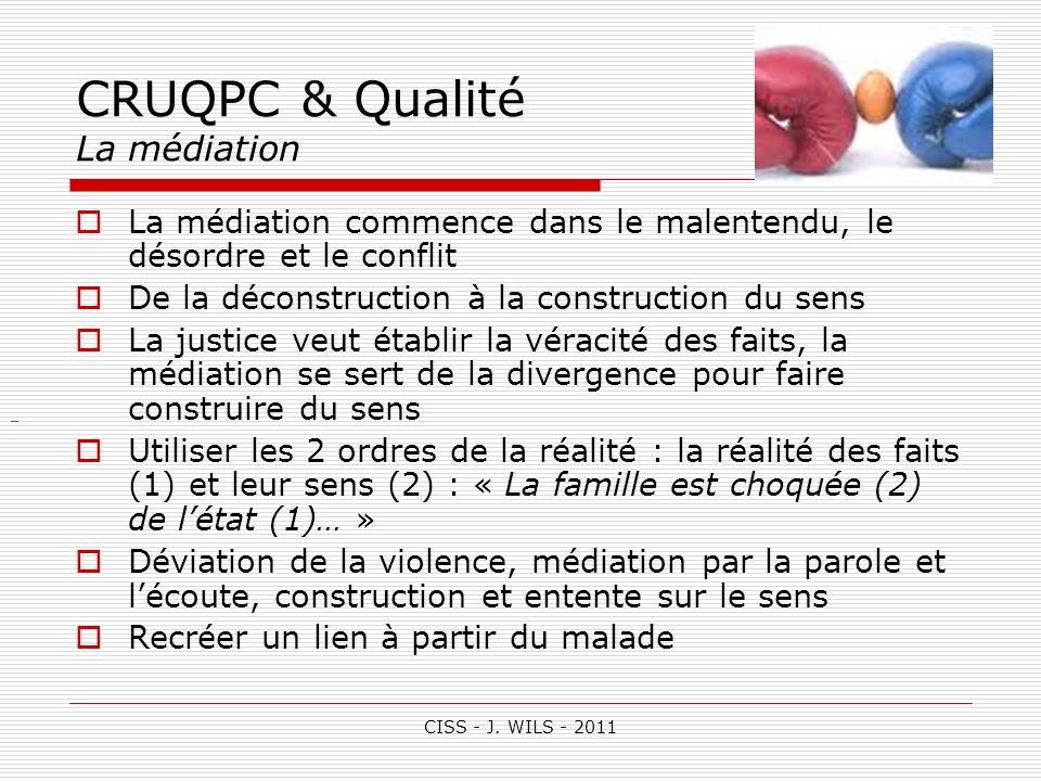 CRUQPC & Qualité La médiation