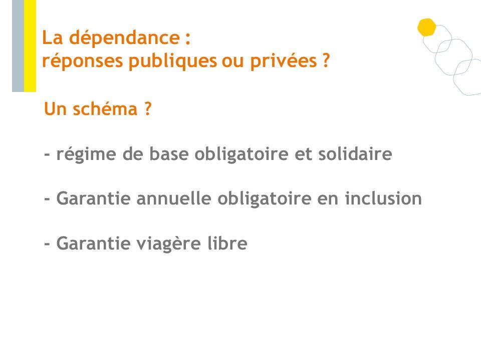 La dépendance : réponses publiques ou privées
