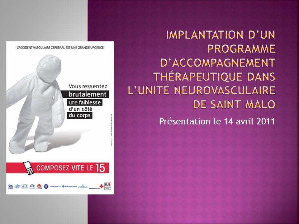Implantation d'un programme d'accompagnement thérapeutique dans l'unité neurovasculaire de saint malo