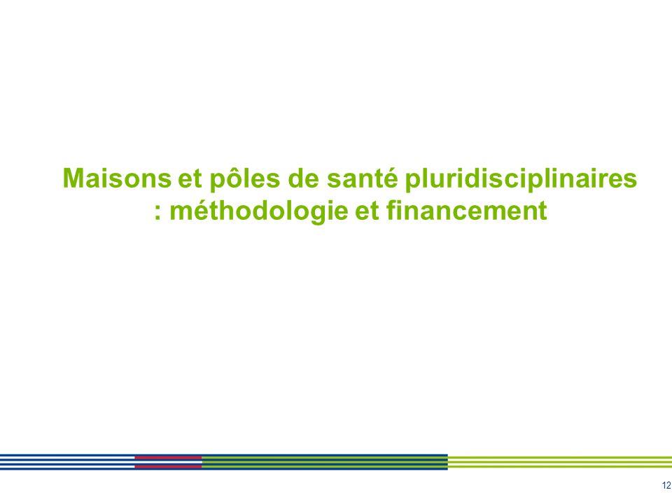 Maisons et pôles de santé pluridisciplinaires : méthodologie et financement