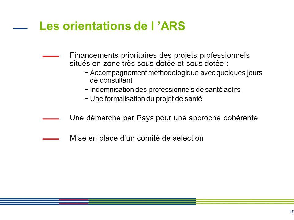 Les orientations de l 'ARS