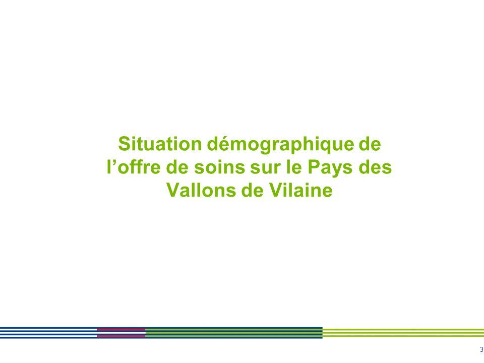 Situation démographique de l'offre de soins sur le Pays des Vallons de Vilaine