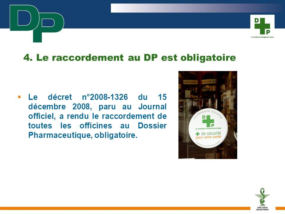4. Le raccordement au DP est obligatoire
