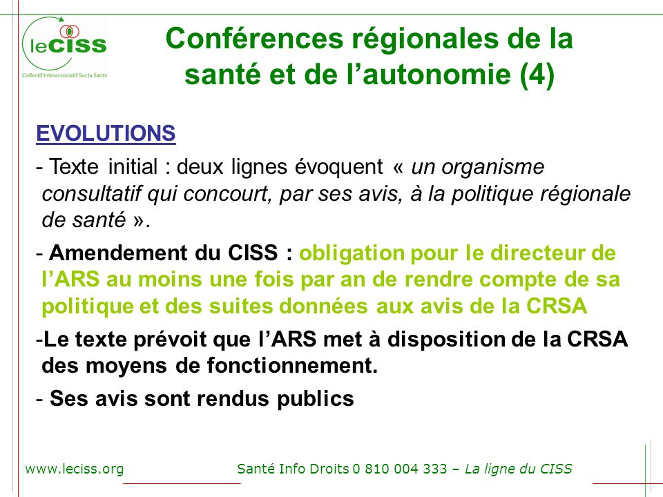 Conférences régionales de la santé et de l'autonomie (4)